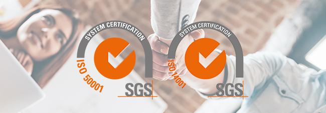 Renovamos con éxito nuestras certificaciones ISO 50001 y 14001